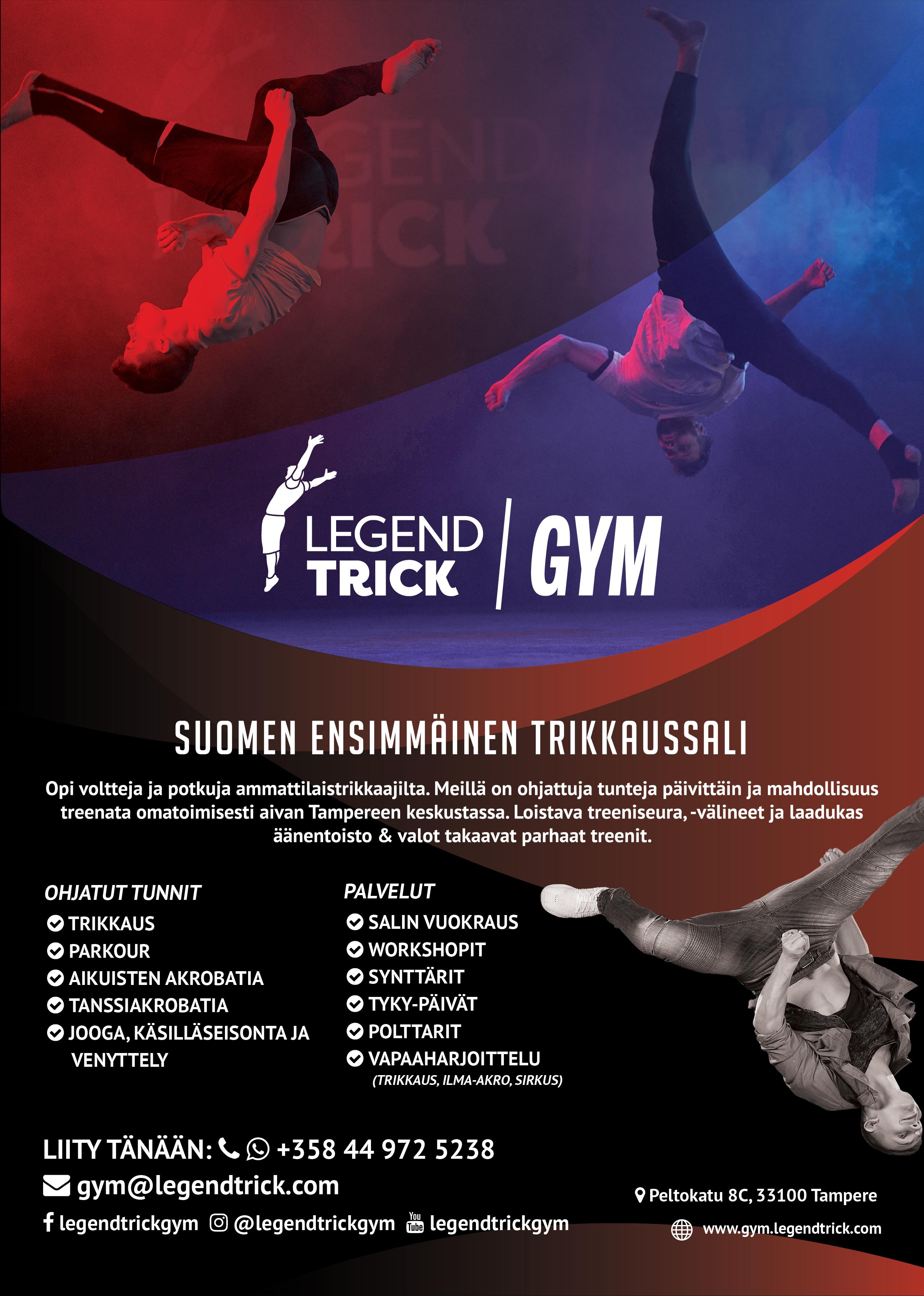LegendTrick Gym - trikkaussali Tampereella