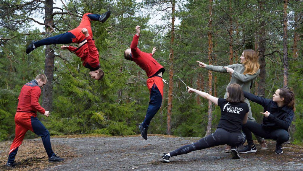 Trikkaus ja akrobatia kesäleiri 2020 Tampereella
